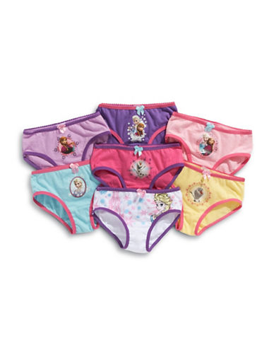 Disney Girls 2 to 6 Frozen Bikini Briefs 7 Pack-ASSORTED-2X