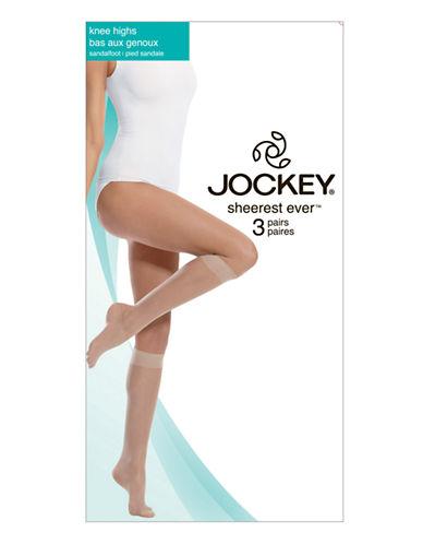 Jockey Sheerest Ever 15 D Knee High Sandalfoot 3-Pair-TUXEDO BLACK-1