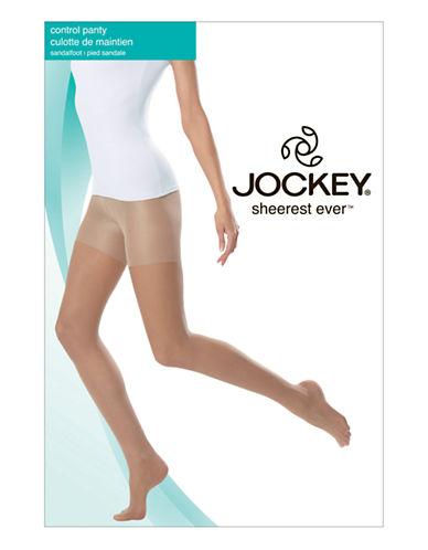 Jockey Sheerest Ever Control Top 15 D Sandalfoot-TUXEDO BLACK-D