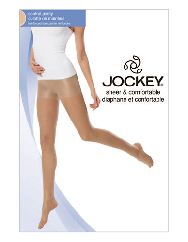 Jockey Day Sheer Control Top 20 D Reinforced Toe-OFF BLACK-C