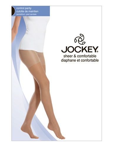 Jockey Day Sheer Control Top 20 D Sandalfoot-WARM BEIGE-E