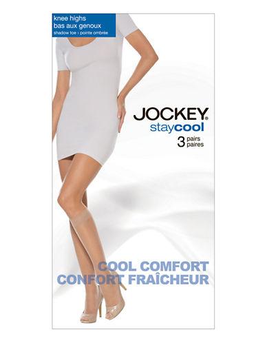 Jockey Jockey Knee High 3 Pair-TUXEDO BLACK-One Size