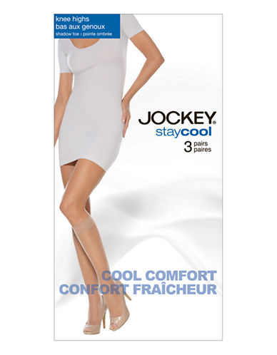 Jockey Jockey Knee High 3 Pair-NUDE-One Size