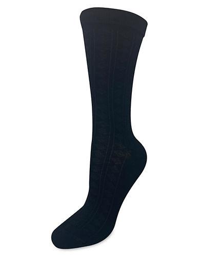 Silks Dropstitch Crew Socks-BLACK-One Size
