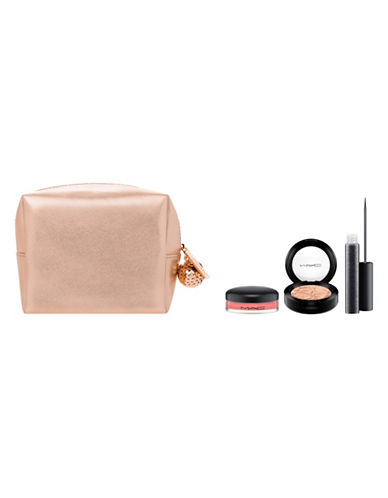 M.A.C Snow Ball Eye and Lip Bag Rose Gold-NO COLOUR-One Size