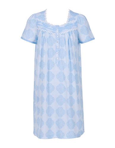 Jasmine Rose Short Sleeve Sleep Tee-BLUE-Small 88299848_BLUE_Small