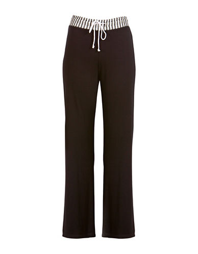 Danskin Solid Drawstring Pants-BLACK-Small 88299444_BLACK_Small