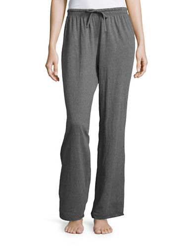 Lord & Taylor Pima Cotton Drawstring Jogging Pants-GREY-Small 88507969_GREY_Small