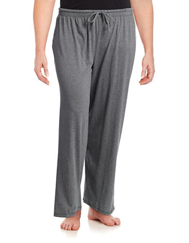 Lord & Taylor Pima Cotton Pyjama Pants-GREY-2X