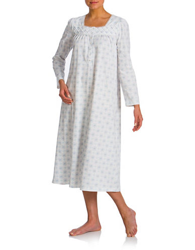 Jasmine Rose Printed Ballet Nightgown-IVORY-Large