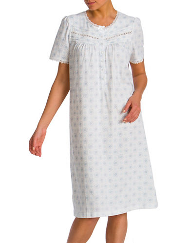 Jasmine Rose Printed Ballet Nightgown-IVORY-Small
