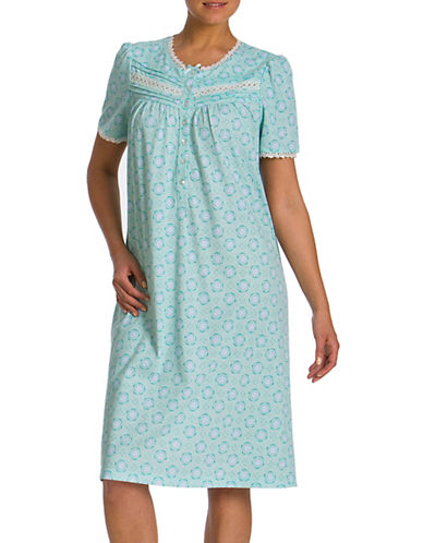 Jasmine Rose Printed Ballet Nightgown-BLUE-Medium