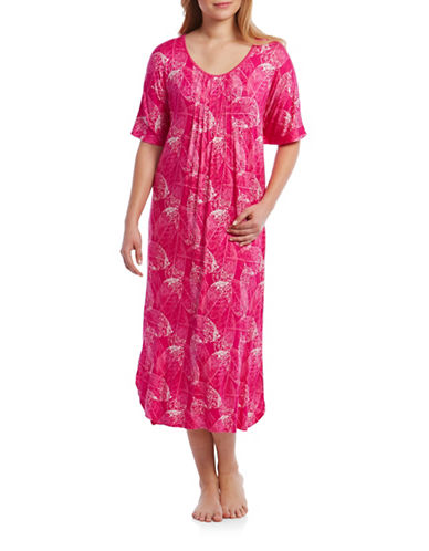 Jasmine Rose Pintucked Caftan-PINK-Small/Medium