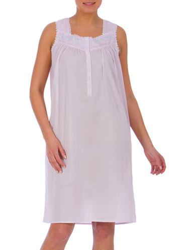 Jasmine Rose Sleeveless Cotton Gown-PURPLE-Small