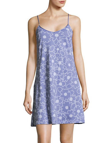 Lord & Taylor Pima Cotton Short Chemise-BOLD FLORAL-Small