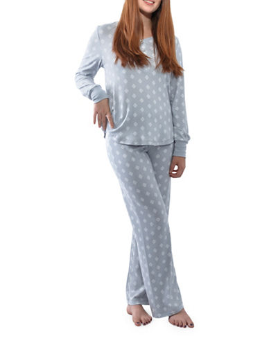 Jasmine Rose Leaves Pajamas-SILVER-Medium