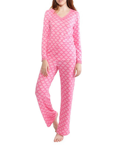 Jasmine Rose Floral Pajamas-PINK-Medium