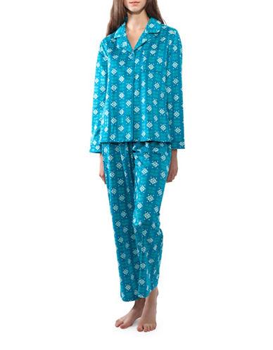 Jasmine Rose Floral Pajamas-PEACOCK-Medium