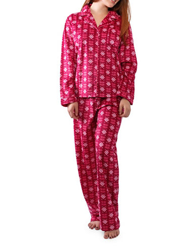 Jasmine Rose Floral Pajamas-RASBERRY-X-Large