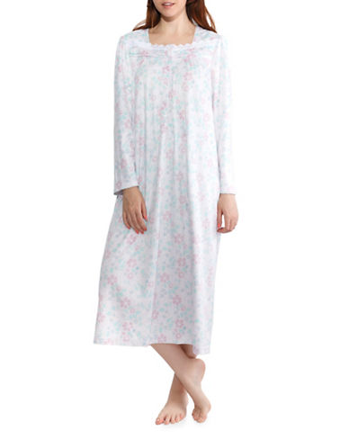 Jasmine Rose Floral Nightgown-LILAC-Large