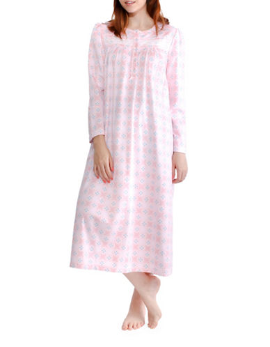 Jasmine Rose Floral Nightgown-PINK-Small