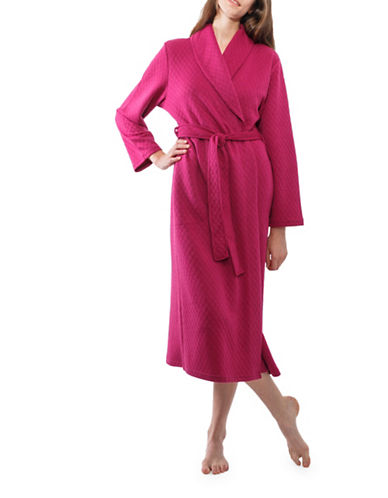 Jasmine Rose Diamond Self-Tie Robe-RASBERRY-Small