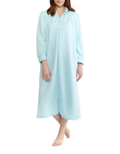 Jasmine Rose Tassel Zip Long Robe-SOFT AQUA-Medium
