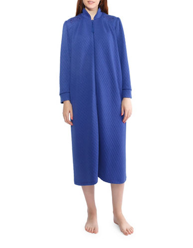 Jasmine Rose Tassel Zip Long Robe-BLUE-Large