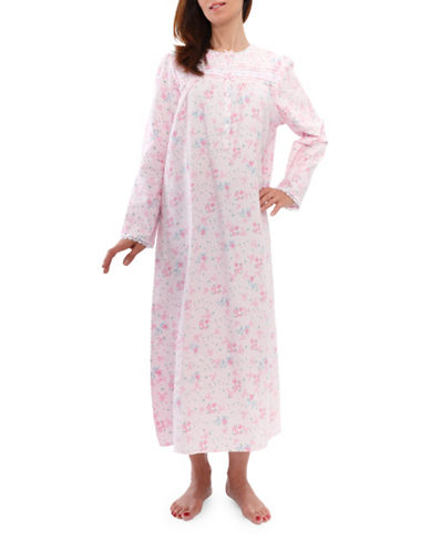 Jasmine Rose Floral Nightgown-PINK-Medium
