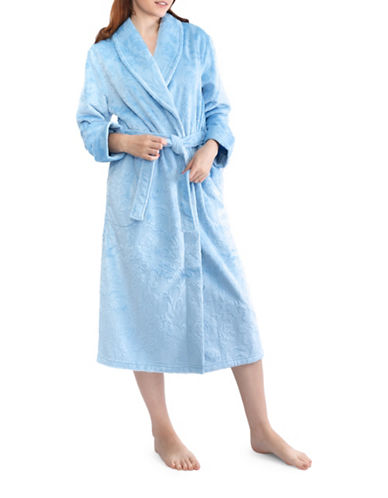 Jasmine Rose Floral Self-Tie Robe-GHOST BLUE-Medium