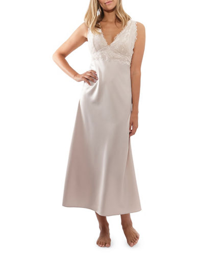 Jones New York Moscato Lace-Trim Sleep Gown-MOSCATO-X-Large