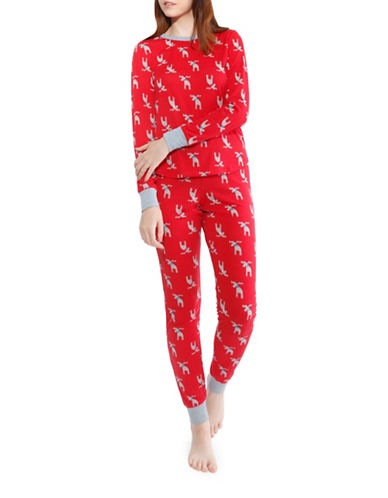 Buffalo David Bitton Printed Pyjamas-RED-Medium