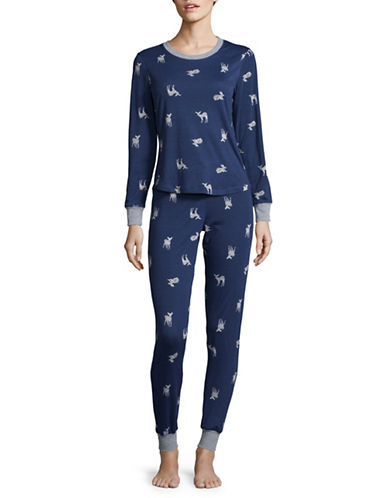 Buffalo David Bitton Pyjama Top and Pants Set-BLUE-Small