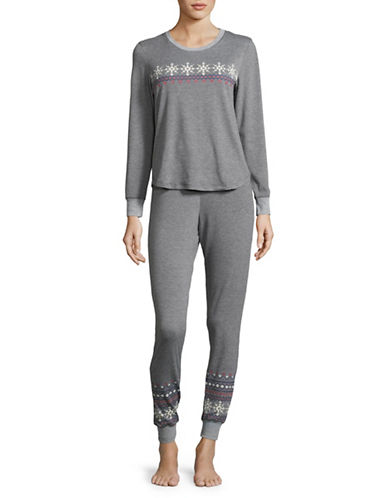Buffalo David Bitton Pyjama Top and Pants Set-GREY-Medium