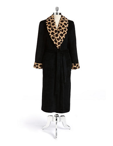 Jasmine rose 48In Shawl Robe black Large