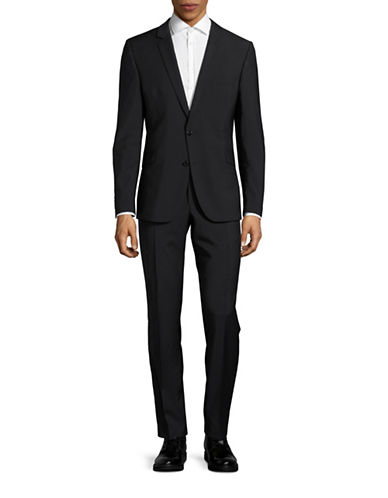 Strellson Allen-Mercer Slim-Fit Wool Suit-BLACK-46