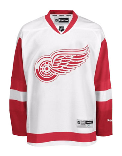 Reebok Detroit Red Wings NHL Premier Away Jersey-WHITE-XX-Large