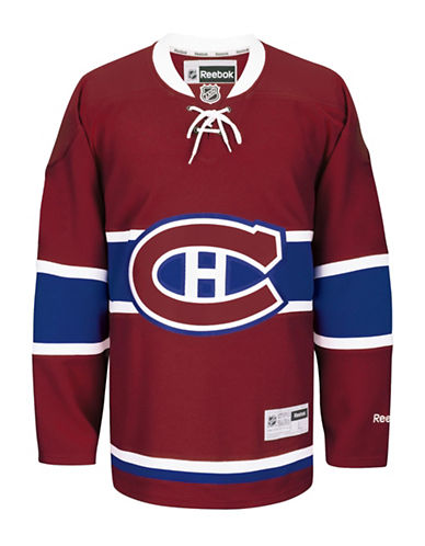 Reebok Montreal Canadiens NHL Premier Home Jersey-RED-Medium