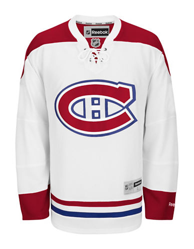 Reebok Montreal Canadiens NHL Premier Away Jersey-WHITE-X-Large