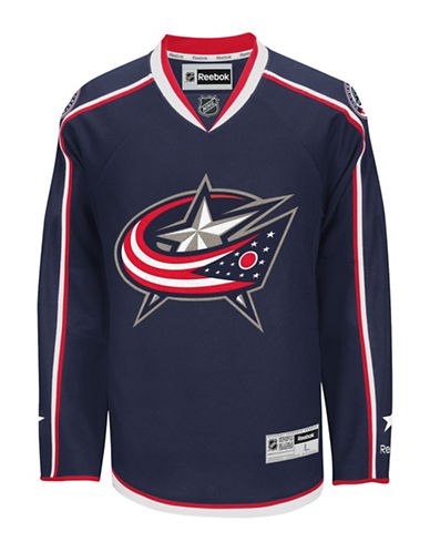 Reebok Columbus Blue Jackets NHL Premier Home Jersey-BLUE-Small