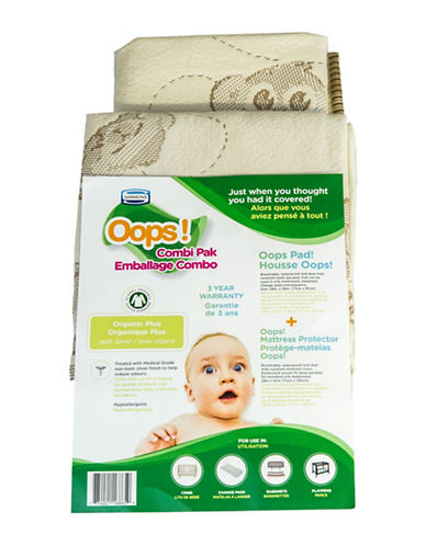 Simmons Oops Organic Mattress Protector Combi-Pak-NATURAL-One Size
