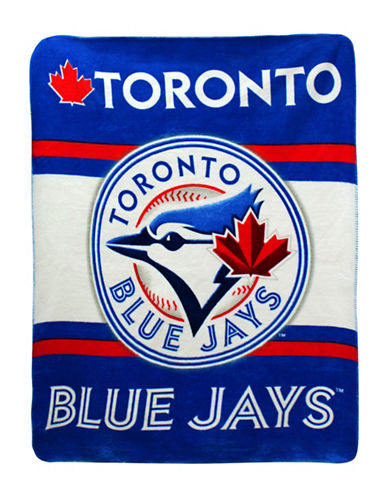 Snugabye MLB Toronto Blue Jays Sherpa Throw-BLUE-One Size