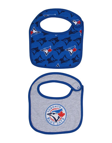 Snugabye Two-Pack MLB Toronto Blue Jays Dribble Bib-BLUE-One Size