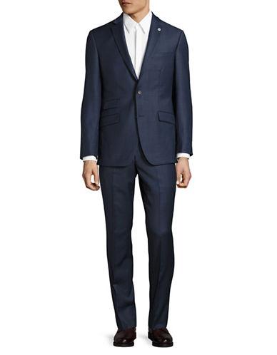 Ted Baker No Ordinary Joe Joey Windowpane Check Wool Suit-BLUE-40 Regular