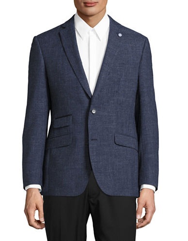 Ted Baker No Ordinary Joe Joey Boucle Suit Jacket-BLUE-36 Regular