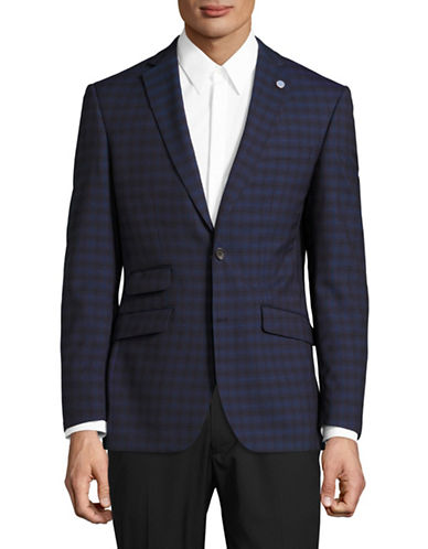 Ted Baker No Ordinary Joe Joey Shadow Plaid Suit Jacket-RED-42 Regular