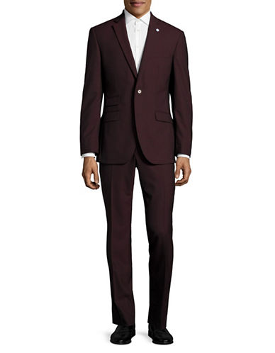 Ted Baker No Ordinary Joe Joey Wool Suit-RED-40 Tall