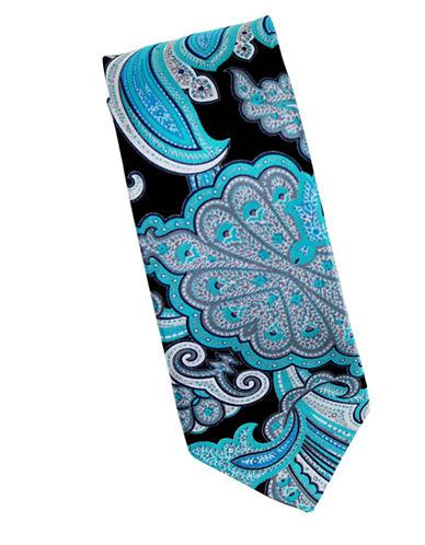 Linea In Paisley Print Silk Tie-GREY-One Size