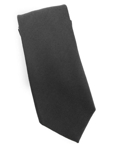 Linea In Classic Silk and Wool Tie-BLACK-One Size