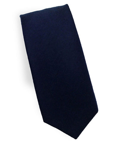 Linea In Classic Silk and Wool Tie-BLUE-One Size